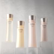 13年連続売上NO.1(*1)!均一なハリ(*2)で、「つや玉」続く。エリクシールの化粧水&乳液が選ばれる理由