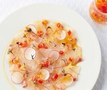 旬の今こそ、ぜひ、生で!鯛のカルパッチョ。—ReFa COLLAGEN RECIPES—