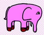 ピンクマーブルの象さん