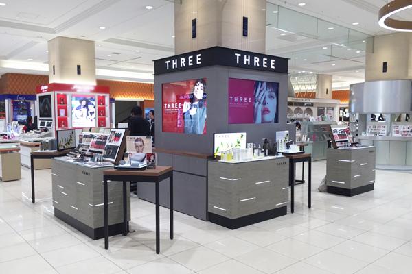 『THREE』の出店状況