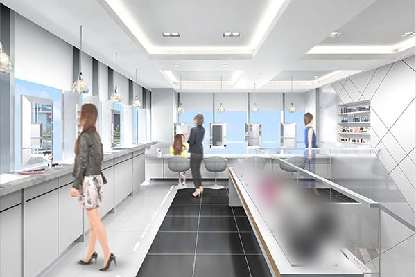 銀座エリア Panasonic Beauty体験型店舗(2017年9月15日オープン)美容部員・化粧品販売員(パナソニックビューティの美容家電アドバイザー)正社員の求人の店内写真1