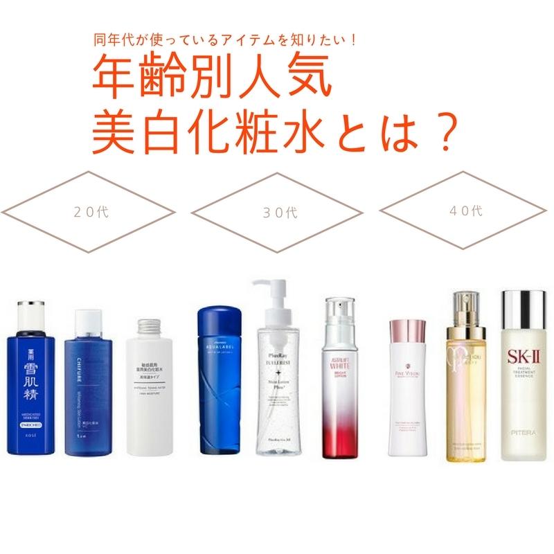 効果を実感♪ 20代・30代・40代別のおすすめ「美白化粧水」 @cosmeまとめ の画像