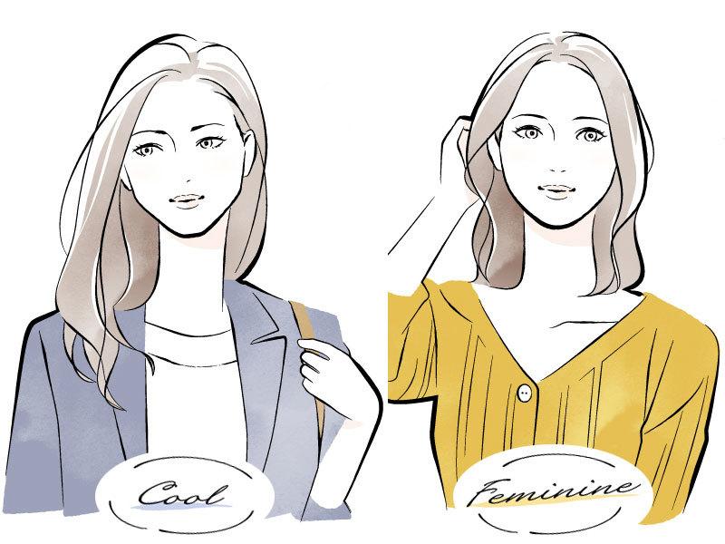 フェミニン 顔 タイプ