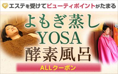 よもぎ蒸し・YOSA・酵素風呂特集