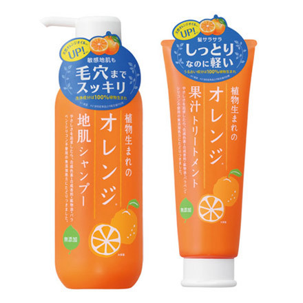 植物生まれのオレンジ地肌シャンプーN/オレンジ果汁トリートメントN / 石澤研究所 の画像