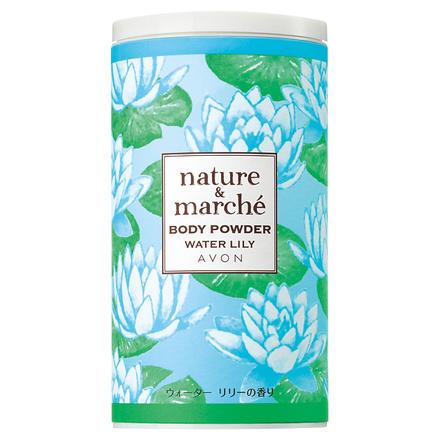 ネイチャー&マルシェ ボディ パウダー ウォーター リリーの香り / エイボン の画像
