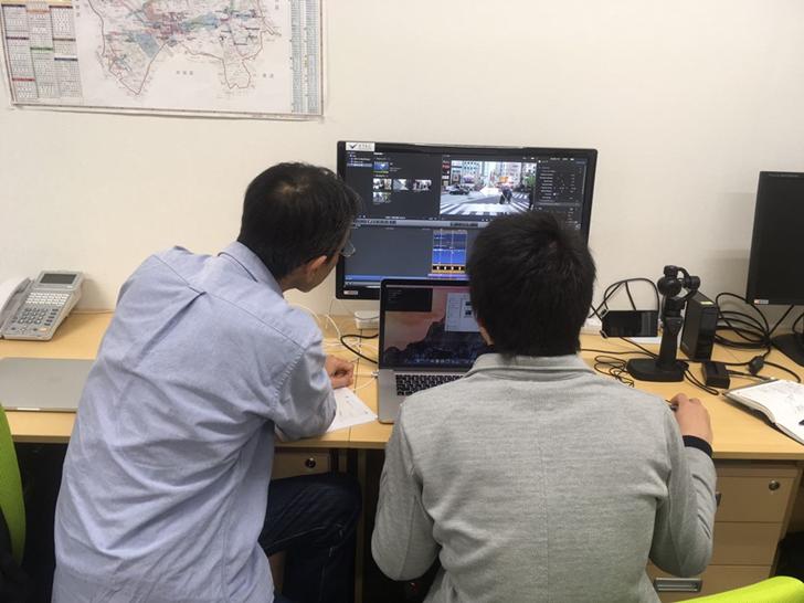 世界初の高速動画マップのサイトデザインの求人の画像